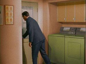 Bewitched-TV-show-laundry-room-off-kitchen-avocado-appliances